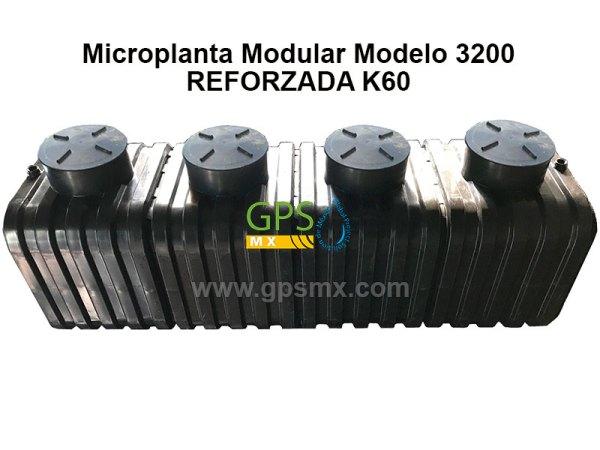 Microplanta de tratamiento de agua residual Gpsmx Modelo 3200 Reforzada K60 4 módulos