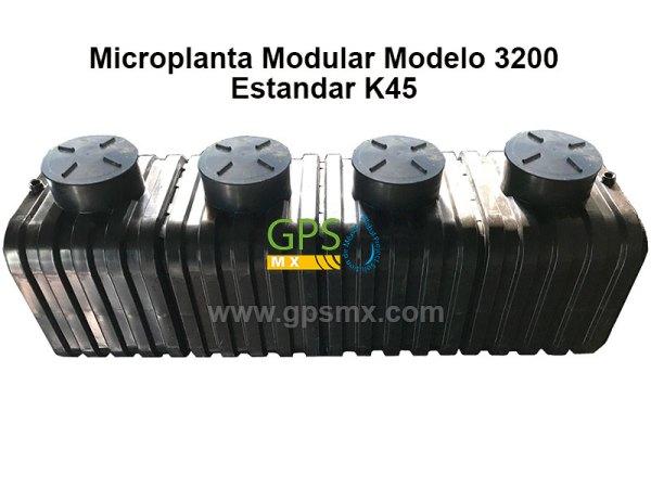 Microplanta de tratamiento de agua residual Gpsmx Modelo 3200 Estándar K45 4 módulos