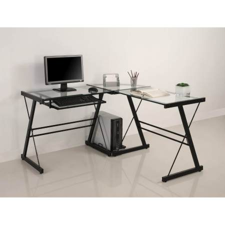 Walker Edison 3-Piece Contemporary Desk for PC Gamers