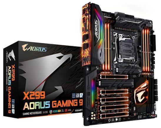 GIGABYTE X299 AORUS Gaming 9 Best 2066 Motherboard