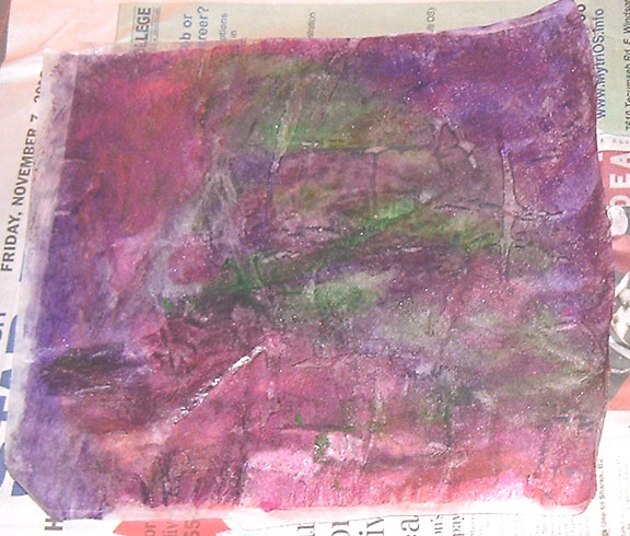 Painting on Fusible Web (1/4)