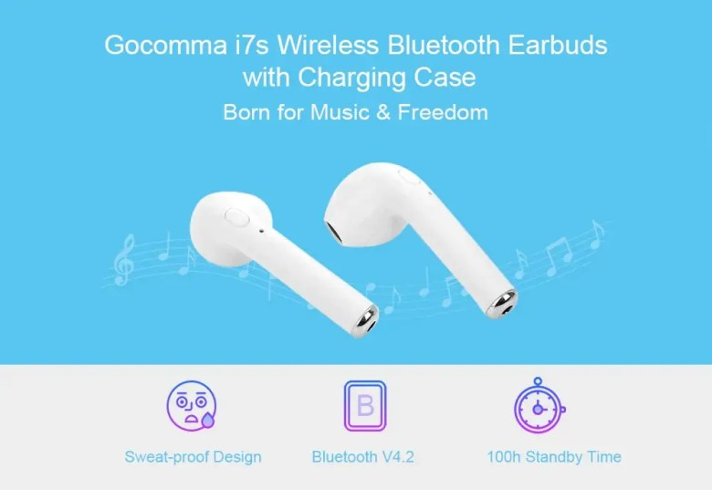 Gocomma i7s Wireless Bluetooth Earbuds