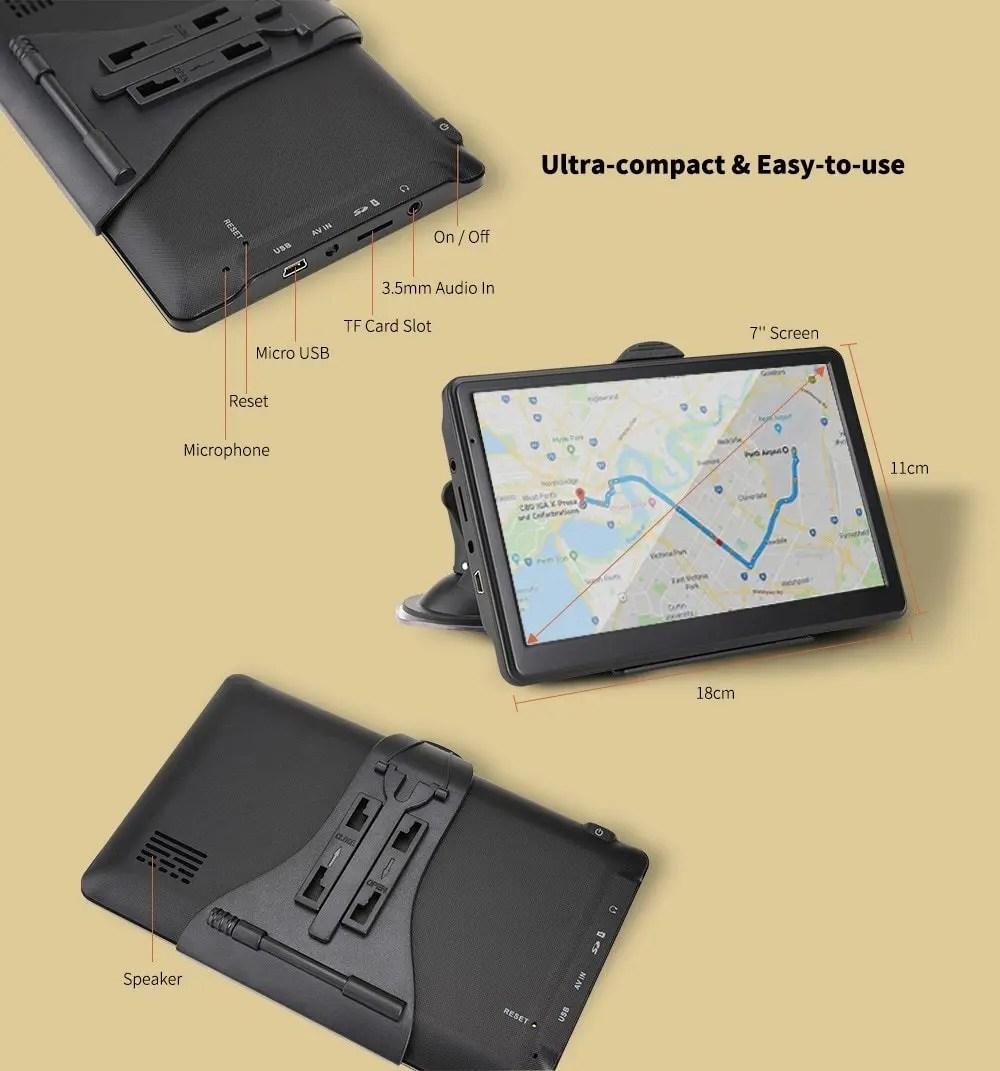 Alfawise 7.0 inch Car GPS Navigator