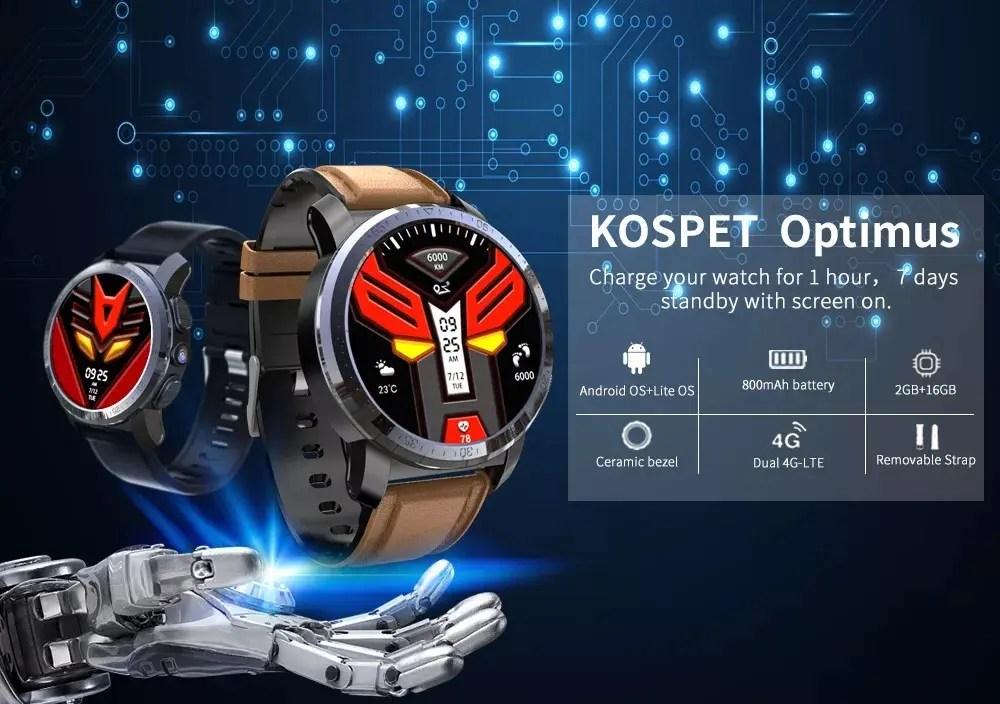 Kospet Optimus: αδιάβροχο, με Dual OS (!), LTE και 2GB RAM στα 128€!!