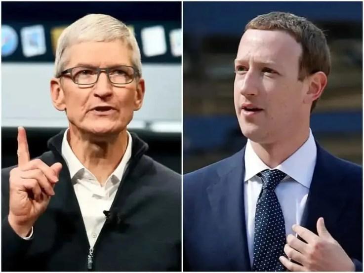 Tim Cook, Mark Zuckerberg