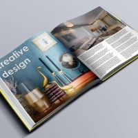 Creative Design Book Mock-up Photoshop Template Square Format with Smart-Object Layers