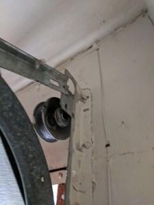 Off Track Garage Door Repair Project   Whittier, CA