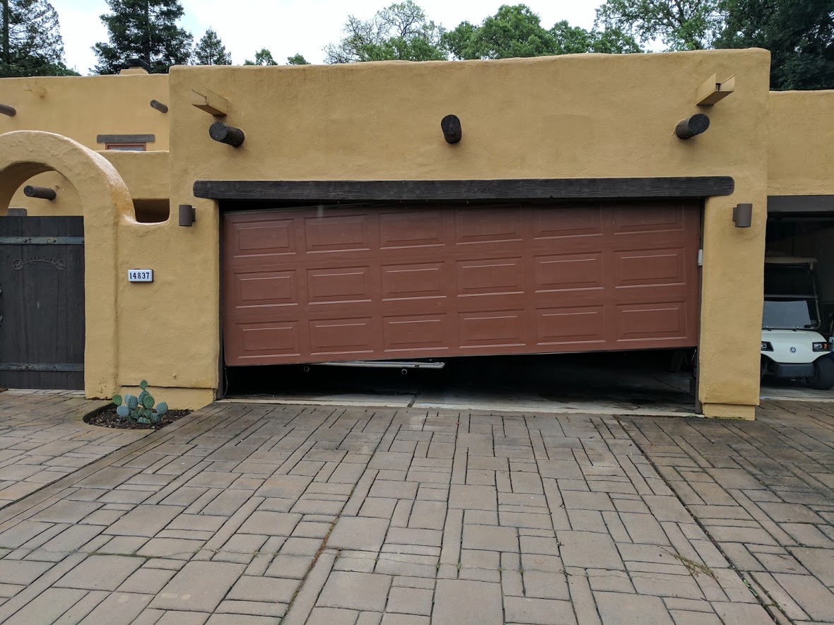 Off Track Garage Door Repair Project Whittier Ca Gr8 Garage Door