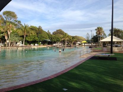 Redcliffe beach pool.