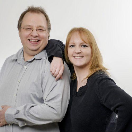 Volker Grabbe mit Kollegin