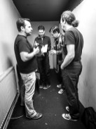 Tiny backstage room is fine. Photo by Christian Vermehren.