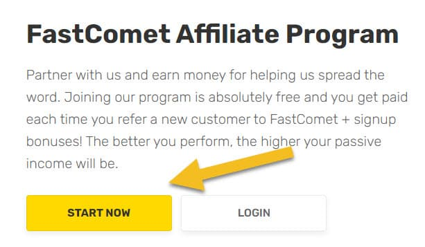 FastComet Affiliate Sign UP