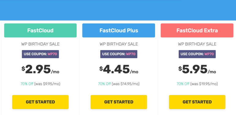 FastComet Pricing