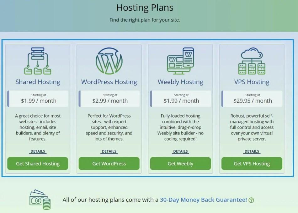 Choose WebHostingPad Hosting Plan