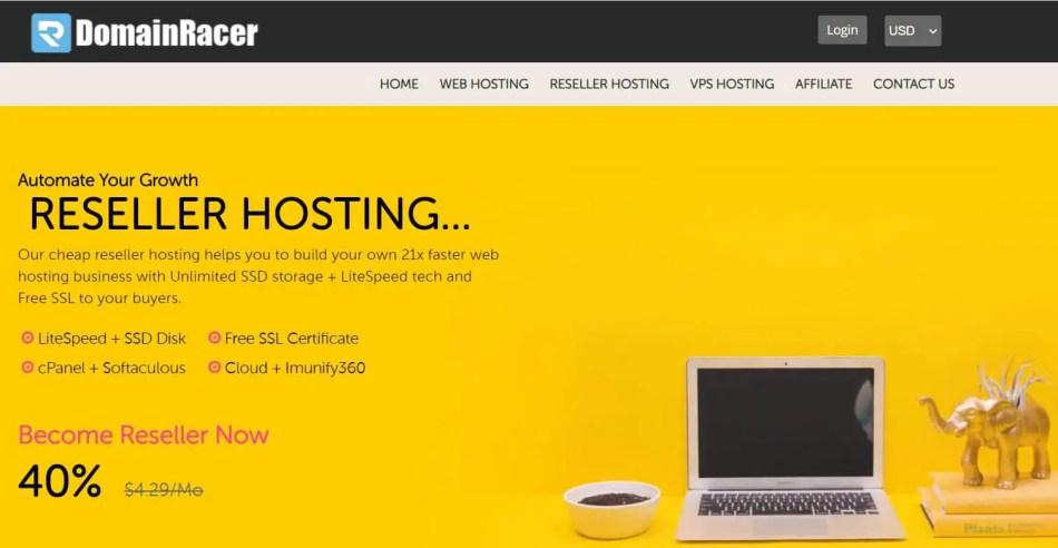 DomainRacer Reseller Hosting