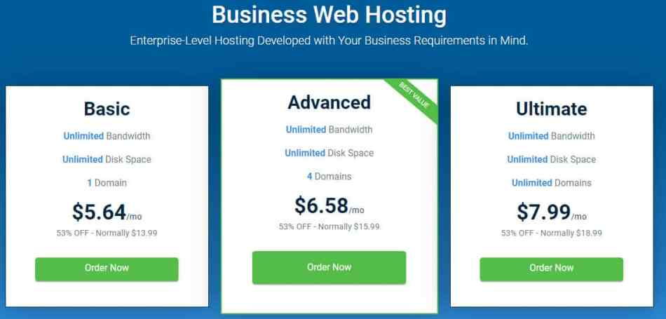 Hostwinds Business Hosting