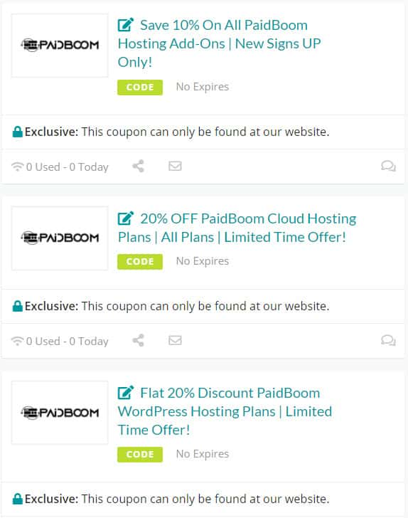 PaidBoom Coupons