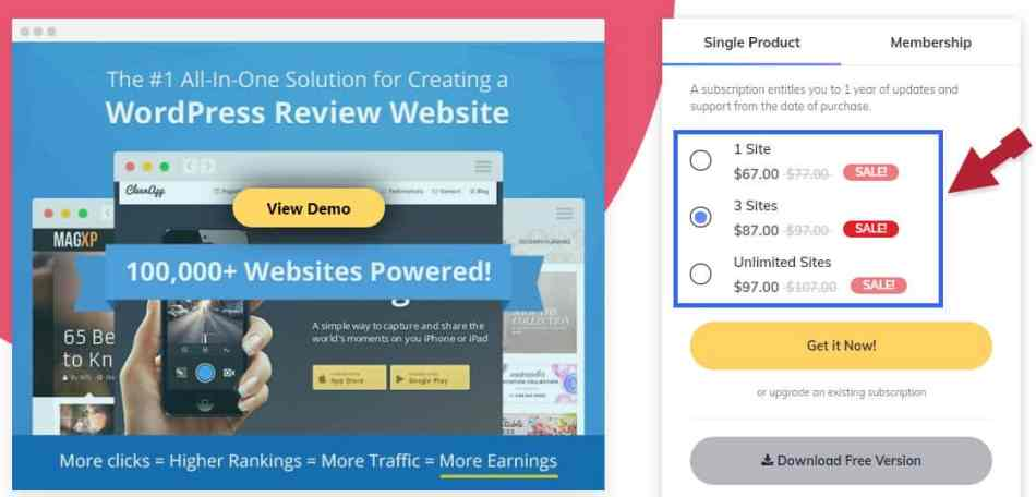 WP Review Pro Plan