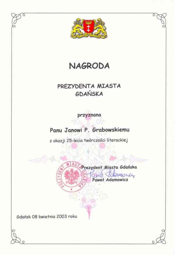Nagroda Prezydenta Miasta Gda?ska