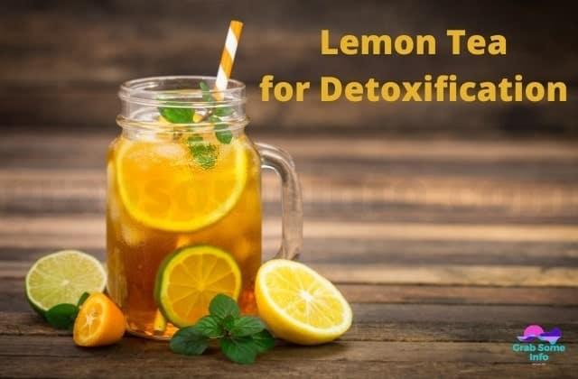 Lemon Tea with pipe in A Jar