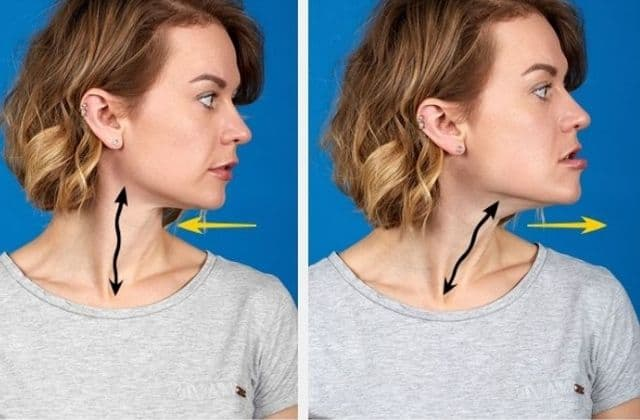 Staight Jaw Extend Exercise