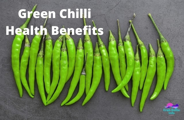 Green Chillies placed in A line
