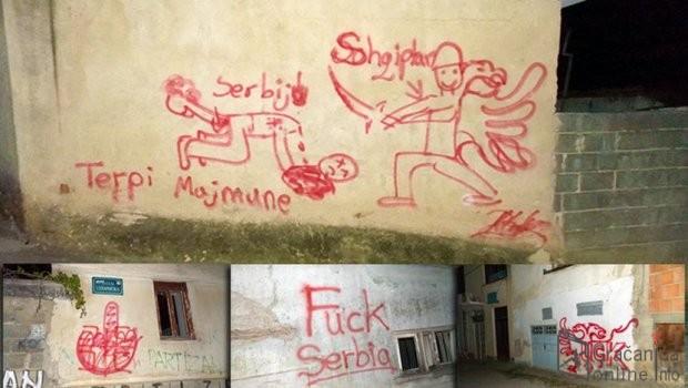 Nekoliko grafita u Prištini