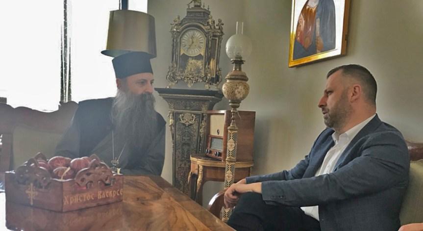 Јевтић са митрополитом Порфиријем: СПЦ важна за опстанак Срба