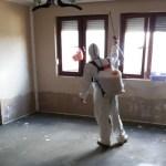 Dezinfekcija, dezinsekcija i deratizacija poplavljenih zgrada u Dobrotinu