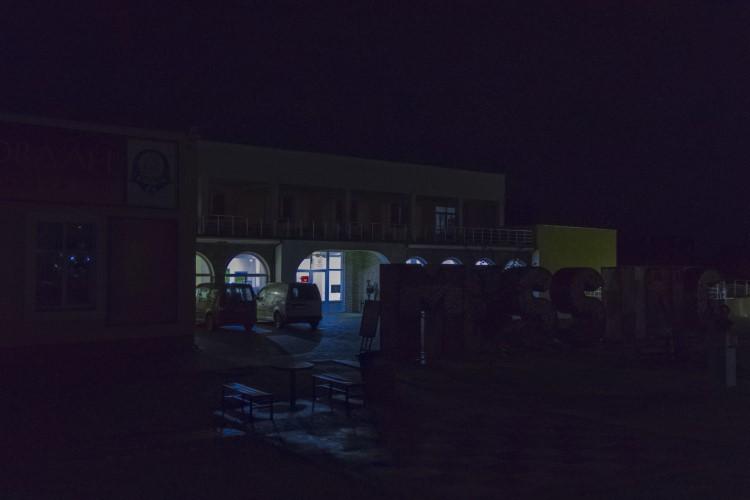 Дом културе у Грчаници у плавом, у знак подршке поновном отварању Народног музеја у Београду