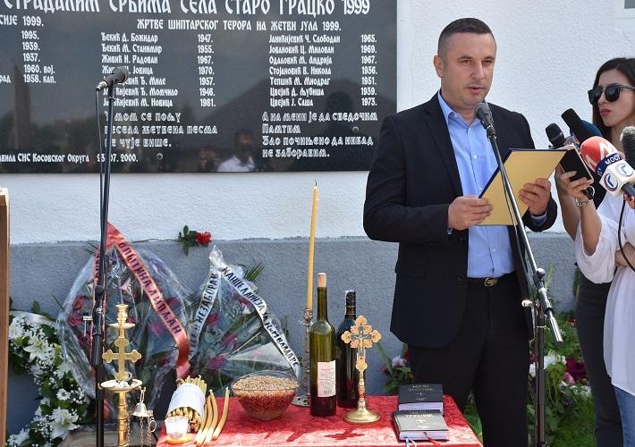 Поповић: Смогнимо снаге, да свако, онолико колико може, помогне преосталим Србима у Старом Грацком