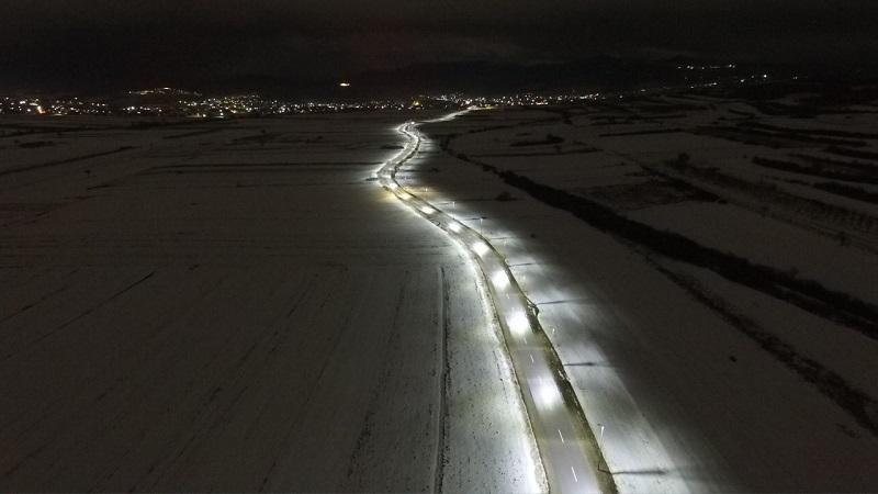 После 3 године поново осветљен пут између Грачанице и Лапљег Села