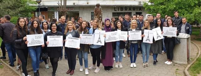 Протести албанске омладине данас у центру Приштине