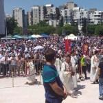 Dveri u Podgorici na saboru povodom najave otimanja svetinja u Crnoj Gori