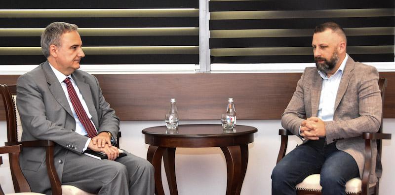 Јевтић са италијанским амбасадором: Пуна подршка наставку дијалога