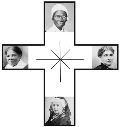 Cross with ladies