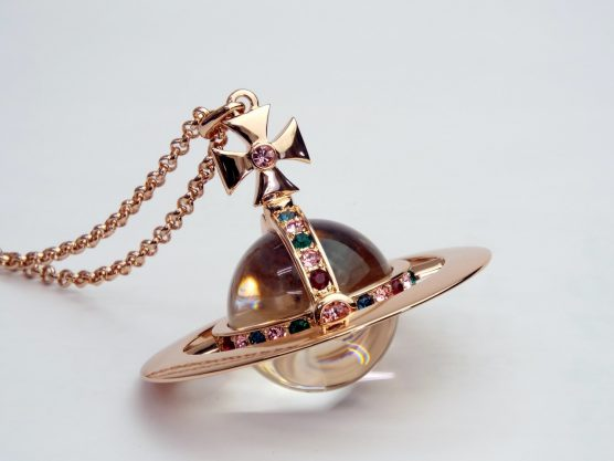 Vivienne Westwood Giant Orb Pendant pink gold