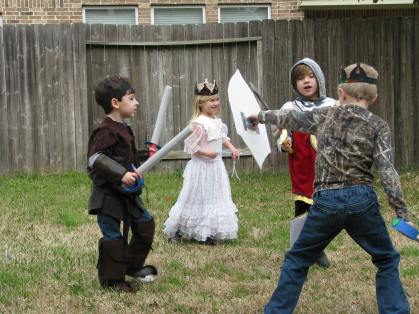 Sword fighting