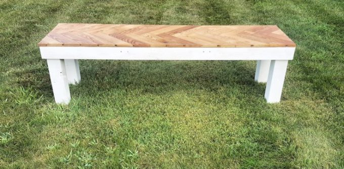1 DIY Herringbone Bench