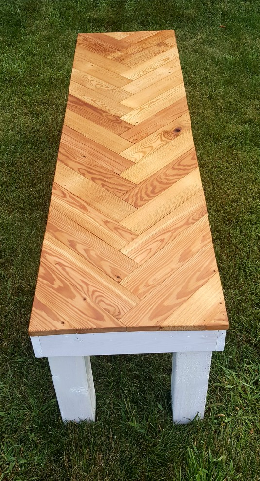 Herringbone Bench DIY Top