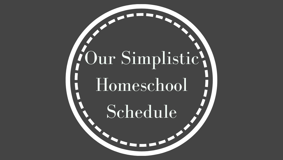 A quick overview of both yearly and daily schedule that's so simple I can't believe we didn't start this as soon as we began homeschool!