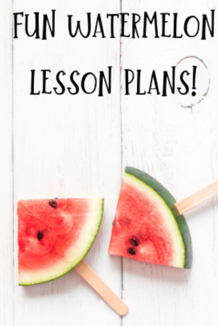 PreK-3 Watermelon Lesson Plans Bundle!