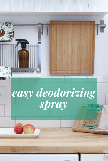 This easy deodorizing spray is great for anywhere in your home and will be a simple addition to your toxin-free home.