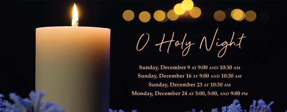 Christmas worship schedule