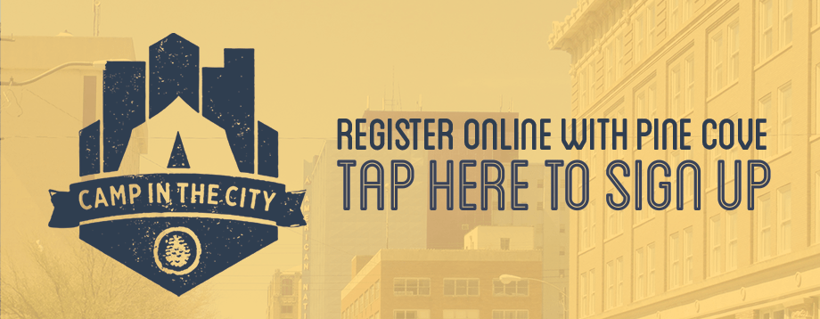 Tap to sign up at Camp in the City .com