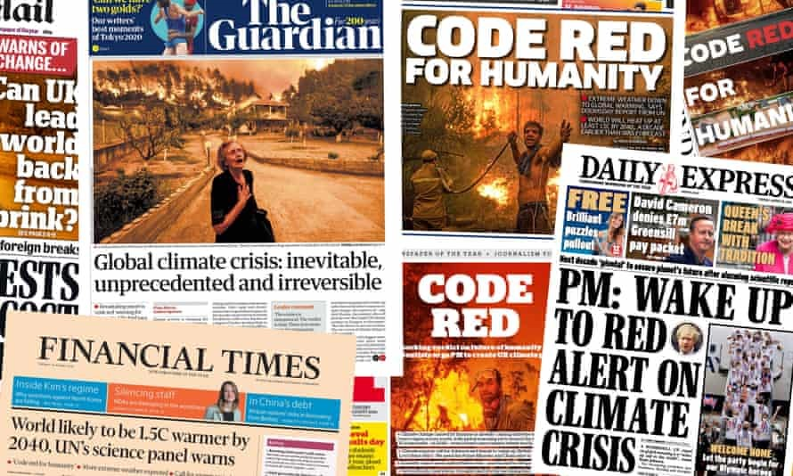 Code Red For Humanity: Newspaper Headlines about Climate Change