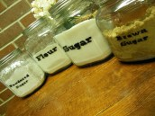 DIY Stenciled Canisters