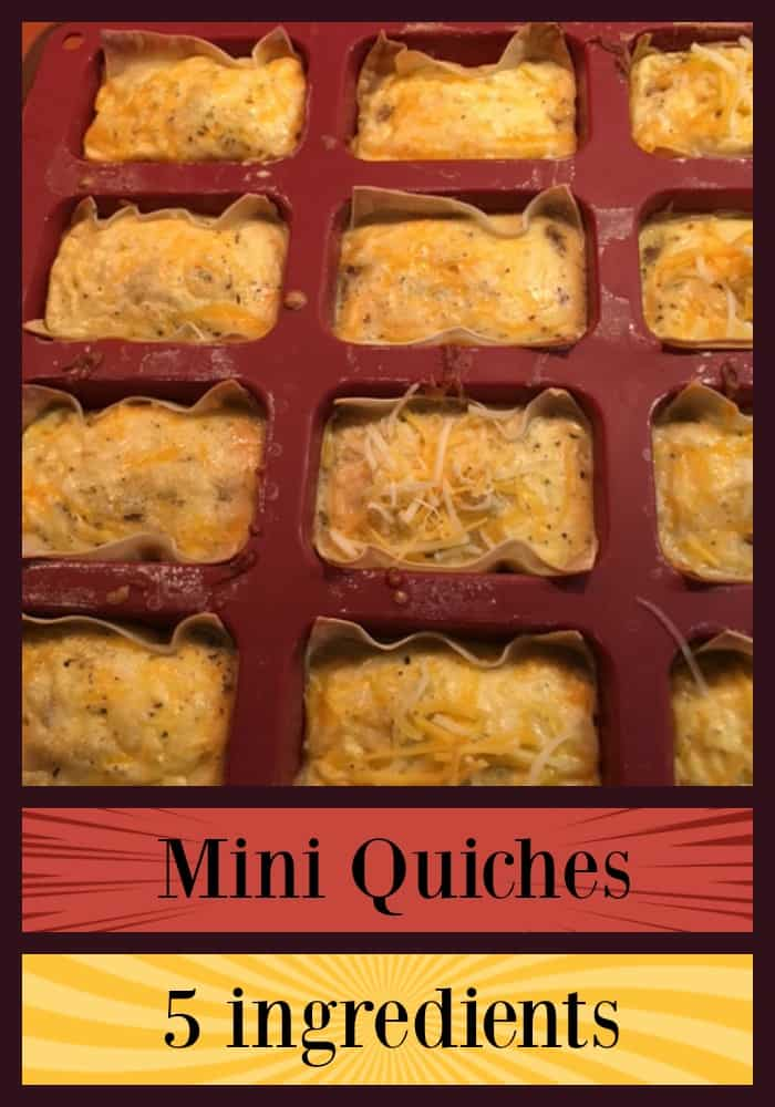 Mini-quiches are a quick breakfast you can make for your picky eaters with only 5 ingredients. You can freeze them and change out ingredients and serve them for lunch if you want! #breakfast #eggs #sunflowermom