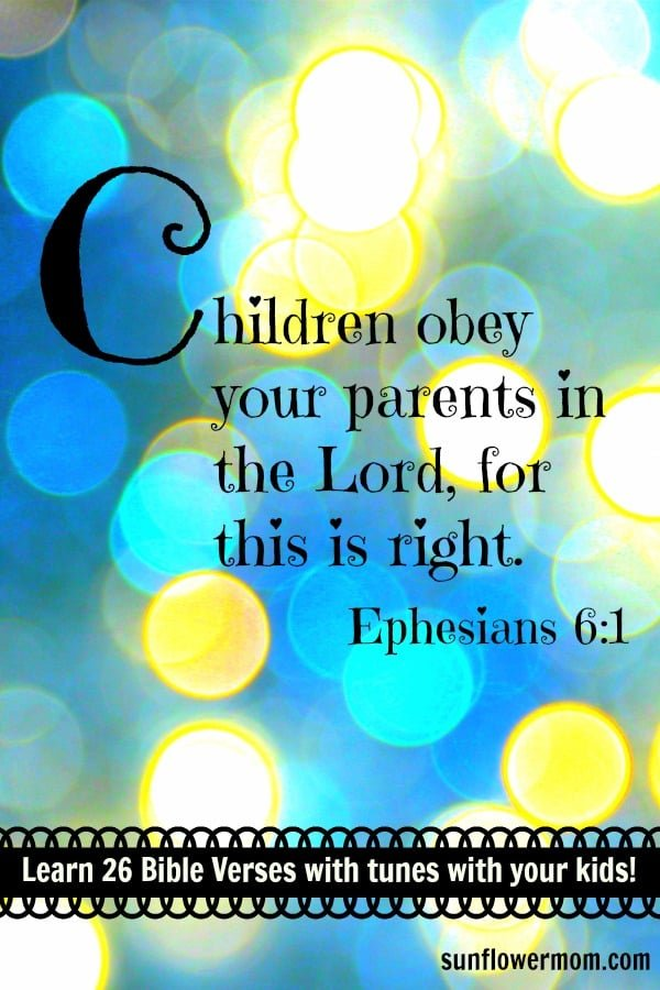 Ephesians 6:1 is the 3rd of 26 Bible Verses to help your child learn one bible verse for each letter of the alphabet. For each verse in the ABC Bible Verse series, there is a free printable and YouTube video to help you and your child learn 26 bible verses!