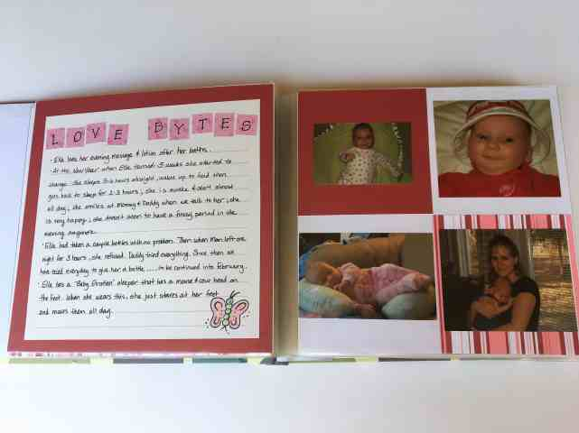 baby book with journaling